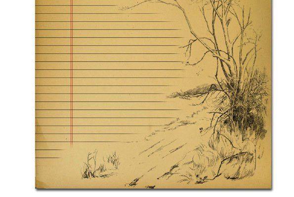Lined Vintage Paper : Selimtd