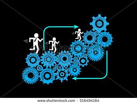 Concept Software Development Life Cycle Developer Stock Vector ...