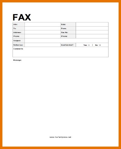7+ free fax templates | Itinerary Template Sample