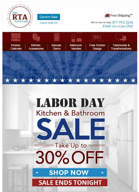 Labor Day Email Marketing Ideas - MailCharts