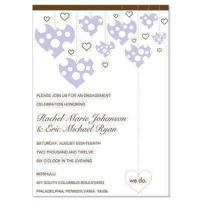 Purple & Brown Engagement Party Invitation Templates - Veronica ...