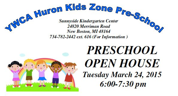 YWCA Huron Kids Zone Preschool open house to be held on Tuesday ...
