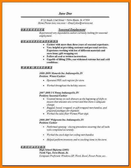 Employment Resume Examples. Job Format Resume 010716_Resume_Rules ...