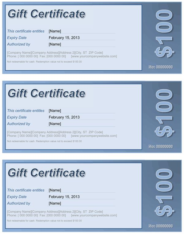 Gift Certificate | Free Template for Word