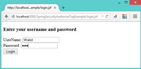 Spring Security Authorize Tag Example - KeyLesson