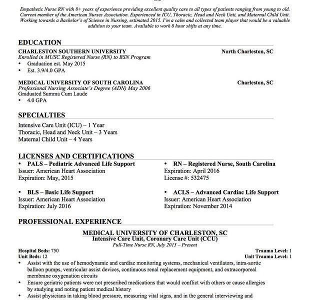 Download Resume Example Nurse | haadyaooverbayresort.com