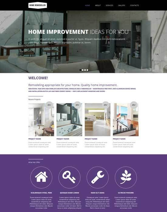 50+ Interior Design & Furniture Website Templates 2017 ...