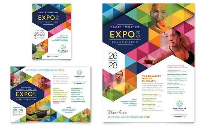 Health Fair Flyer & Ad Template Design