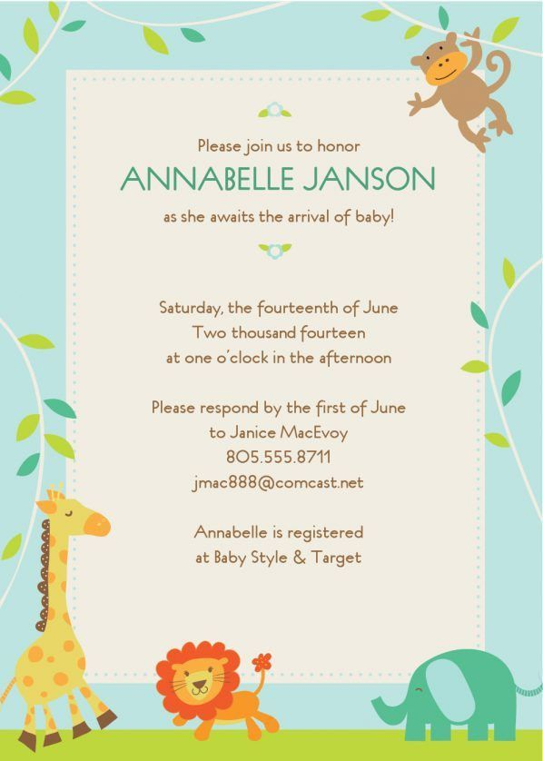 Top Collection of Free Templates For Baby Shower Invitations ...