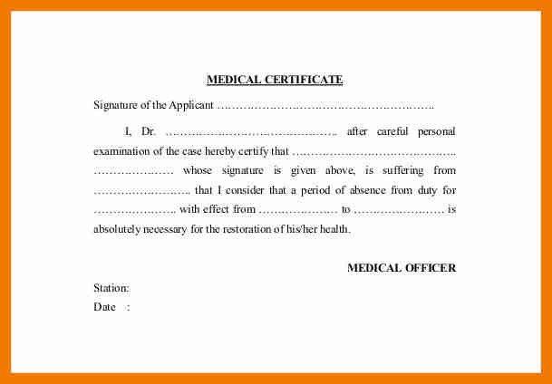 6+ leave certificate sample | resume holder