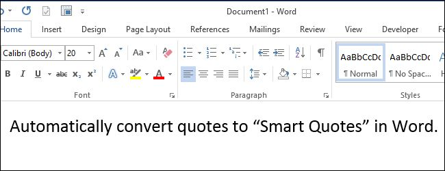 How to Automatically Convert Quotes to Smart Quotes in Word 2013