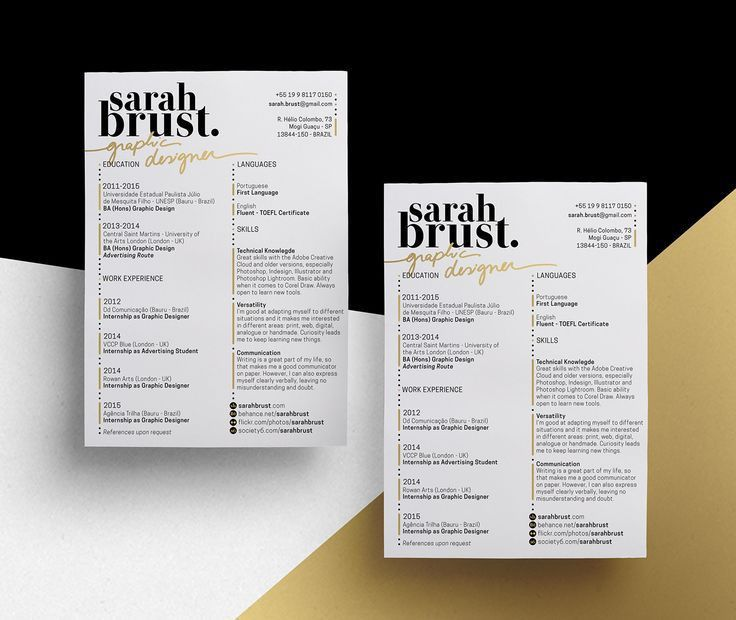 Best 25+ Resume design ideas on Pinterest | Resume ideas, Cv ...