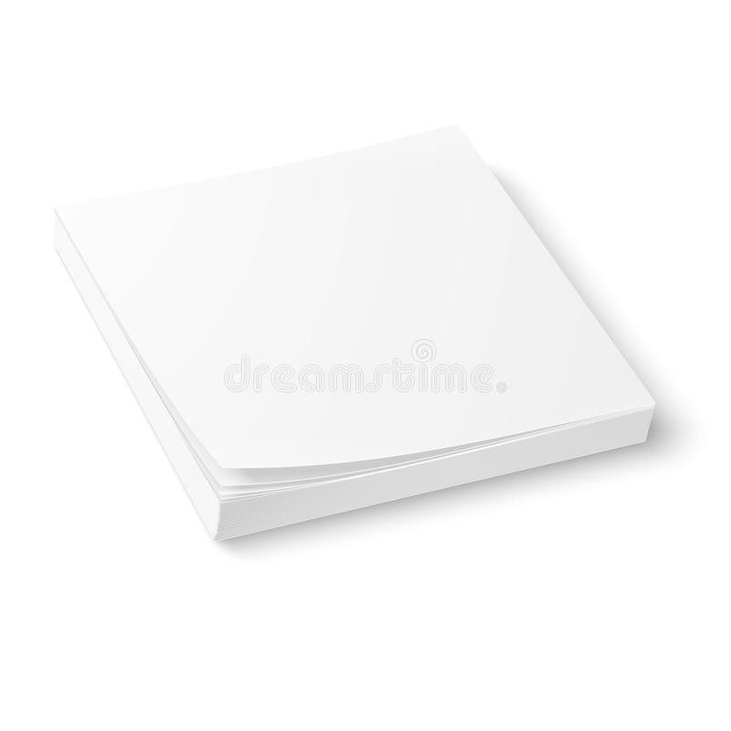 White Paper Block Template. Royalty Free Stock Photo - Image: 38728895