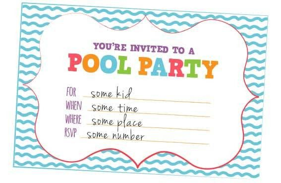 Free Pool Party Invitation Template – gangcraft.net