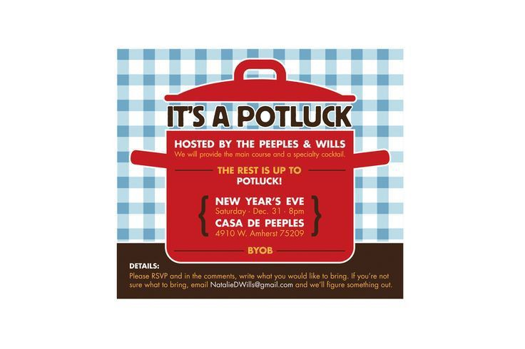 Potluck Email Invitation Template - Themesflip.Com