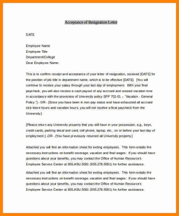 11+ resignation acknowledgement letterjpg | job resumed