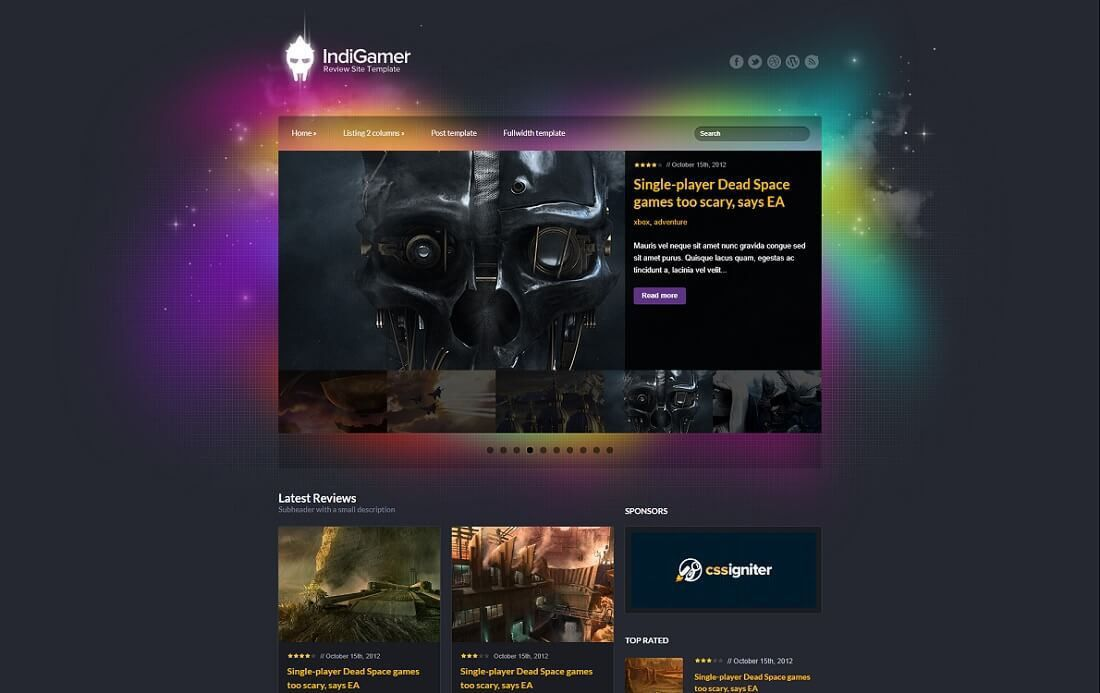15 Best Gaming HTML Website Templates 2017 - Colorlib