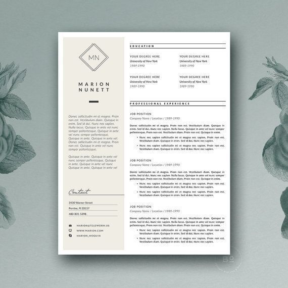 133 best + resume templates images on Pinterest | Resume templates ...