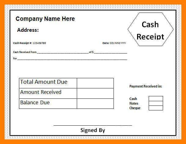 4+ cash receipt slip | protect letters