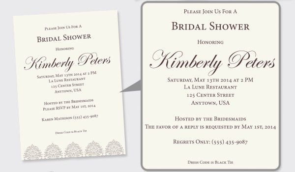 Wording For Bridal Shower Invitations | christmanista.com