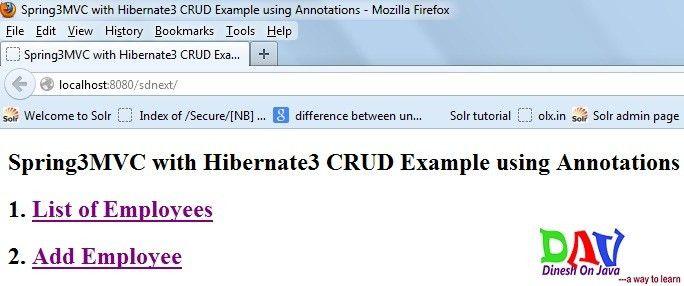 Spring MVC Hibernate Integration CRUD Example Step by Step ...