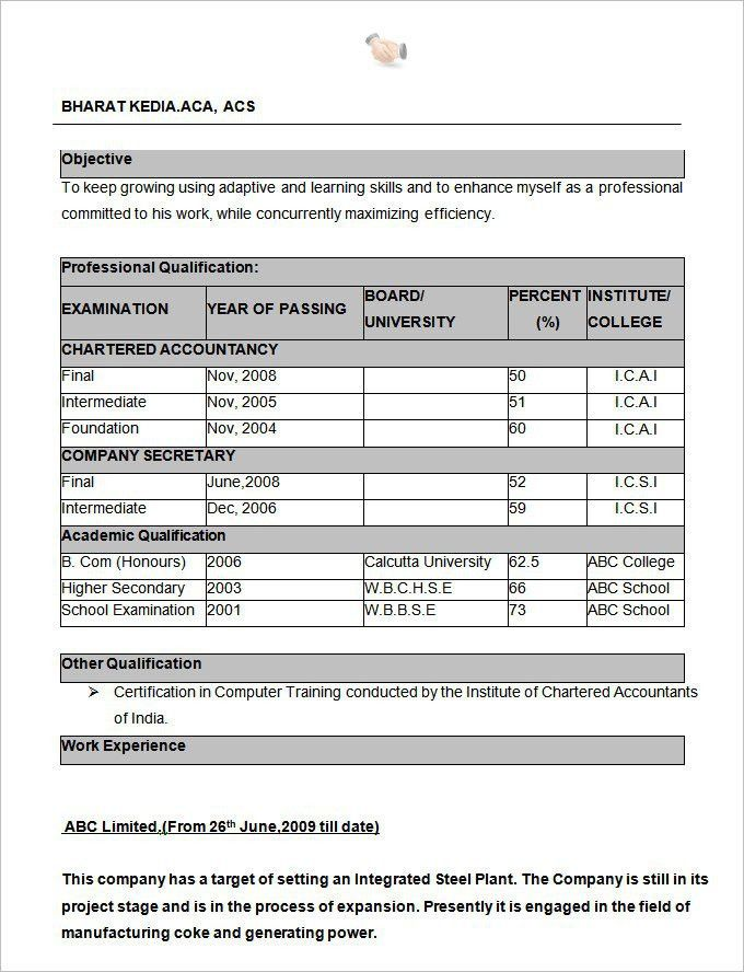 download resume formats best resume formats 47free samples