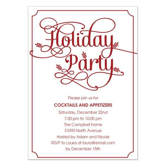 Holiday Party Invitation Template Free – gangcraft.net