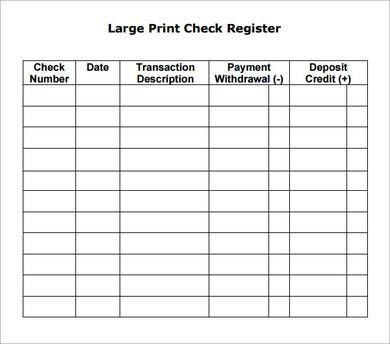 13 Best Photos of Blank-Check Register Template Printable - Blank ...