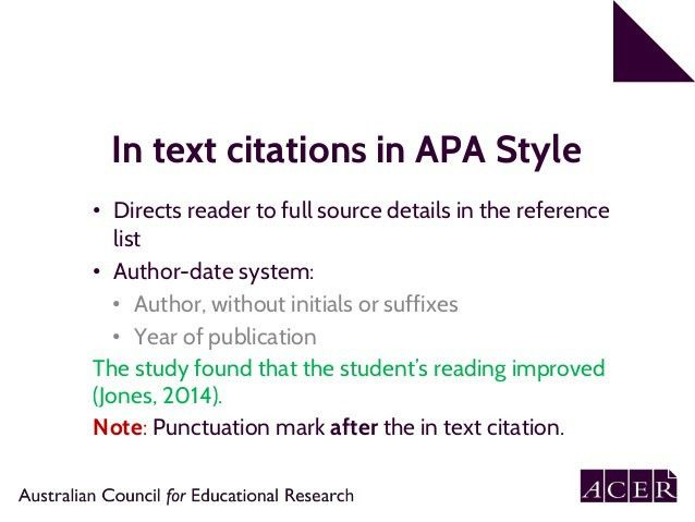 APA 6th edition referencing. Part 1: In text citation