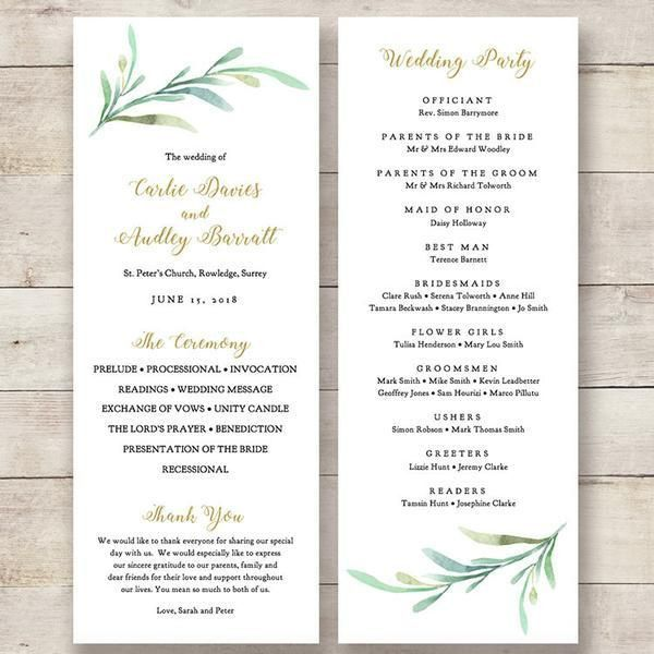 The 25+ best Wedding program template word ideas on Pinterest ...