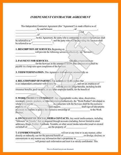 General Contractors Contract Template. charming general contractor ...