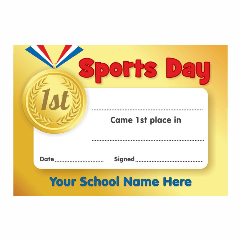 Sports Day Certificate Templates Free (1) – Popular And Various ...