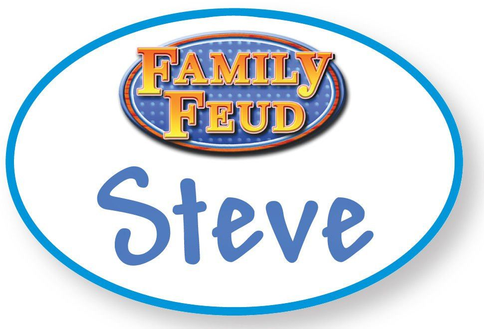 1 STEVE HARVEY Family Feud Halloween Costume Prop Name Badge