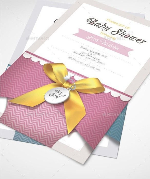 Baby Shower Invitation Template - 19+ Download In Vector, PSD