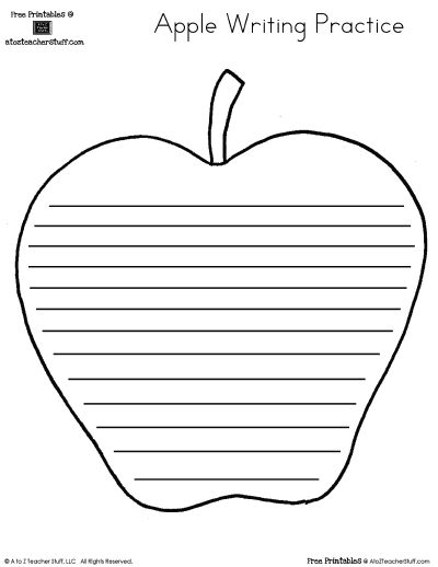 Printable Apple Pattern | A to Z Teacher Stuff Printable Pages and ...