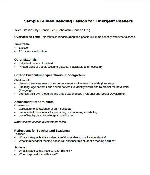 Lesson Plan Sample. Weekly Lesson Plan Template With Standards .