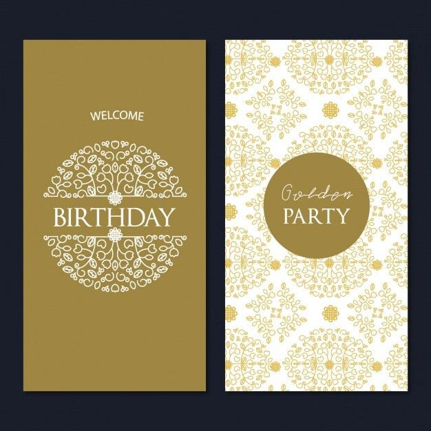 Birthday card template design Vector | Free Download