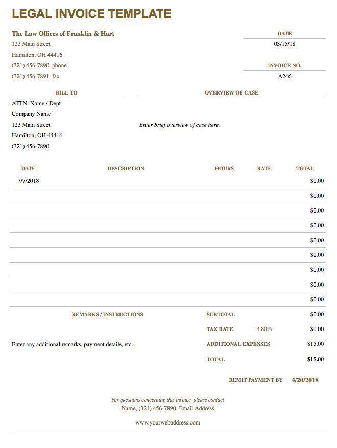 Free Google Docs Invoice Templates | Smartsheet