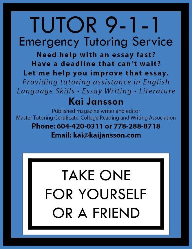 of flyer for tutoring