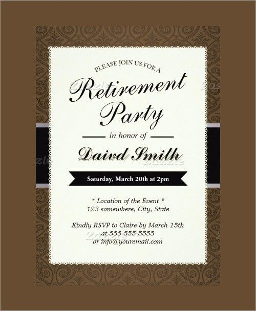 Retirement Party Flyer Template. Retirement Party Invites Can ...