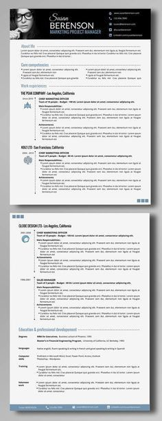 30 Free & Beautiful Resume Templates To Download … | Pinteres…