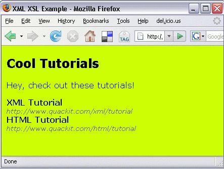 XSLT Example