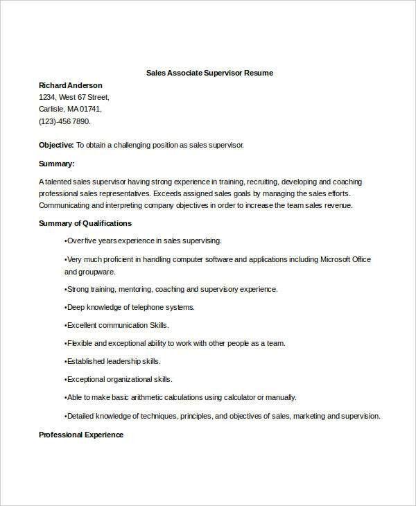 Sales Resume - 29+ Free Word, PDF Documents Download | Free ...