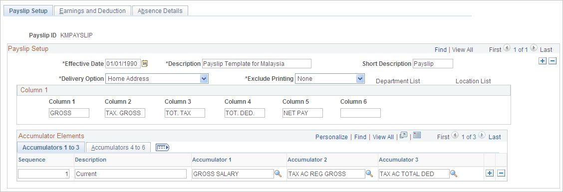 Creating Payslip Templates and Messages