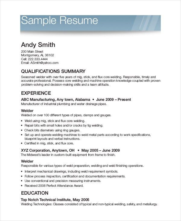Free Printable Resume Template. Free Resume Templates For ...