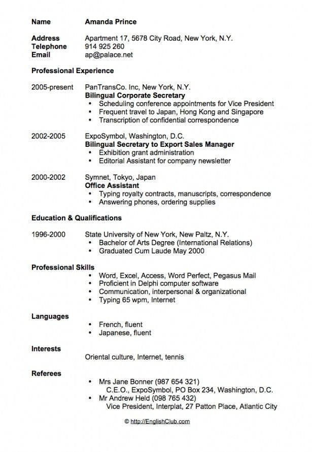 Resume Example Template. Traditional Elegance Resume Template ...