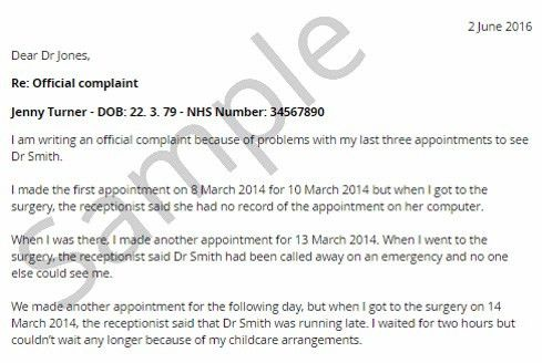 NHS Complaints Letter Sample Templates - Negligence Claimline