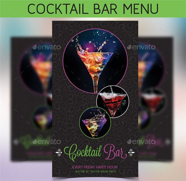 25+ Bar Menu - PSD, Vector EPS