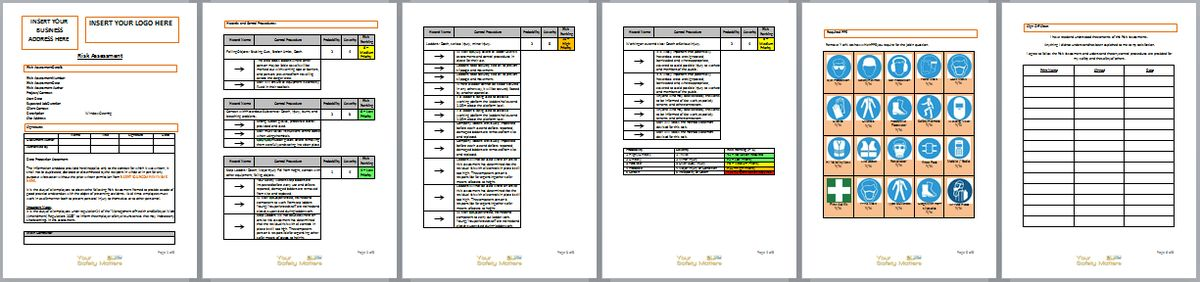 Download a Free Tiling Risk Assessement Template Document