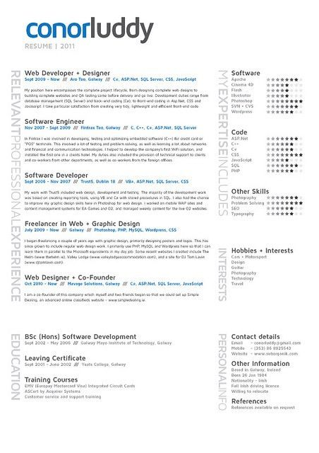 a modern rsum layout by conor luddy choose a style and readable ...